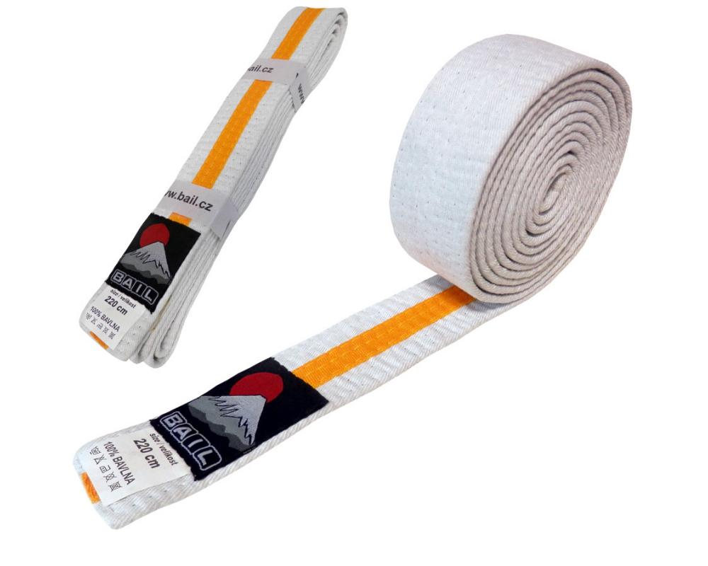 Judo pásek ke kimonu DUO bílo-žlutý