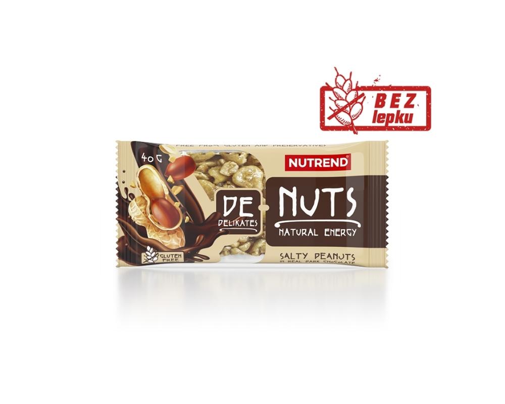 NUTREND DeNuts 40 g slané arašídy