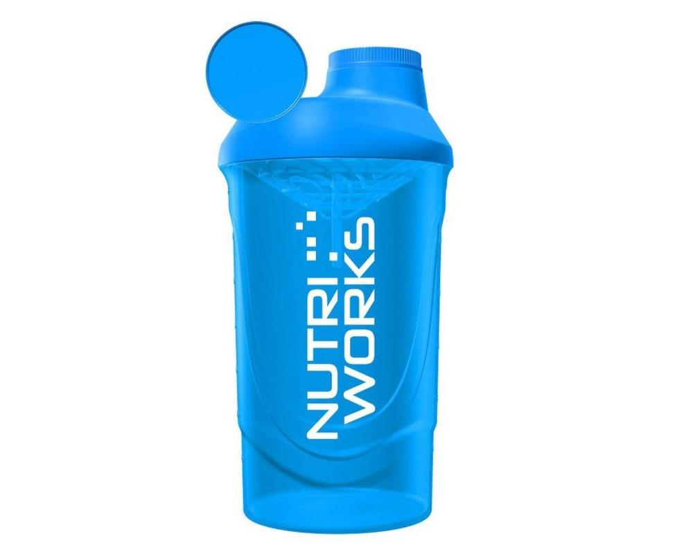 NUTRIWORKS Shaker 600 ml modrý