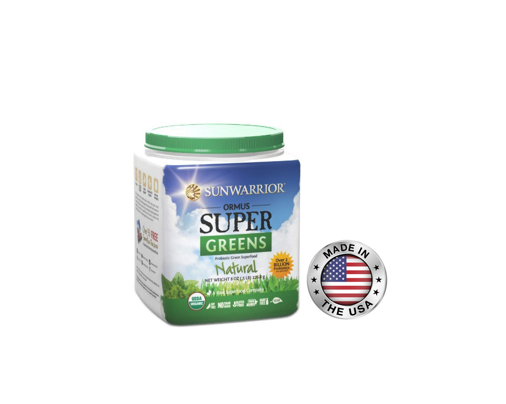 SUNWARRIOR super greens 454 g - natural
