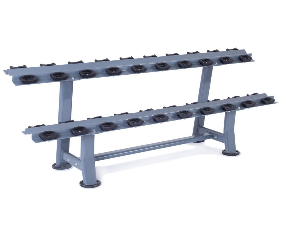 Stojan na jednoruční činky Rack Comfort TRINFIT - pohled