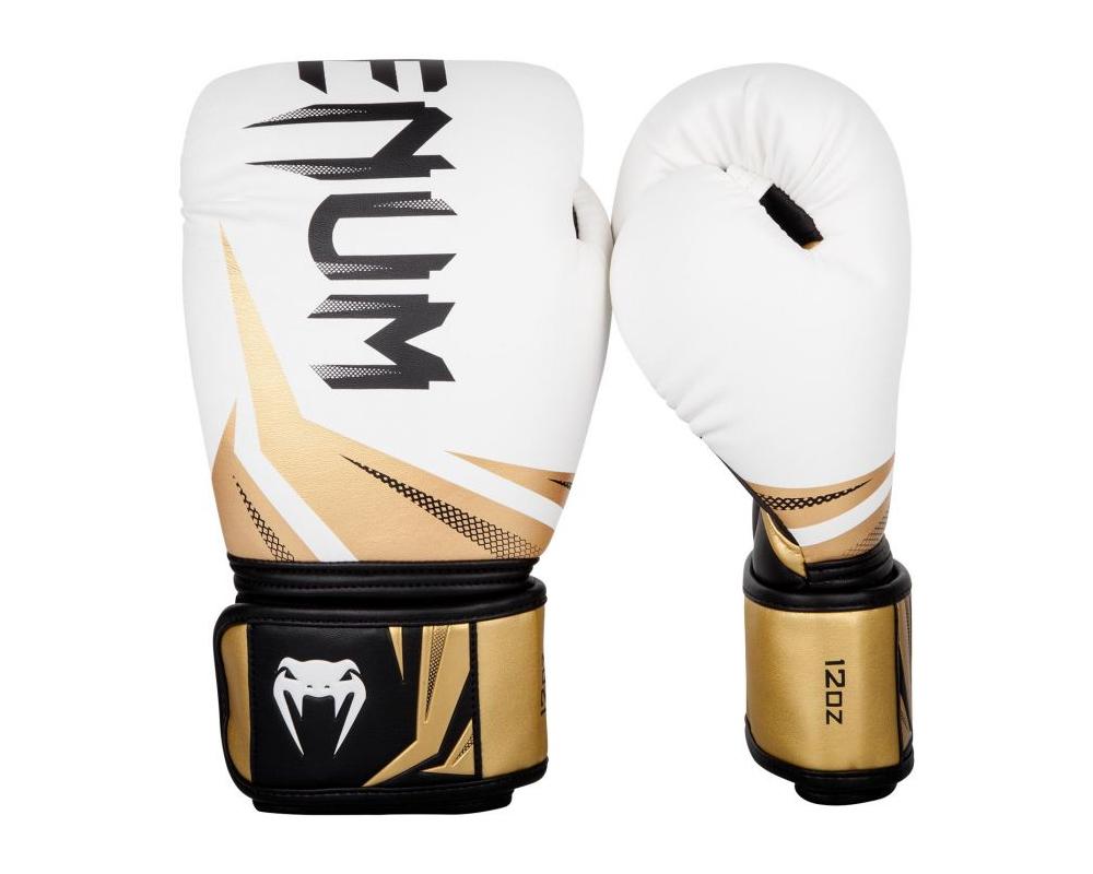 Boxerské rukavice Challenger 3.0 VENUM bíločernozlaté - pohled