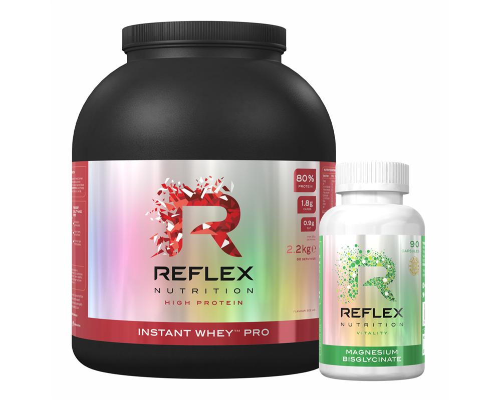 REFLEX Instant Whey PRO 2,2 kg + Albion Magnesium 90 kapslí Zdarma!