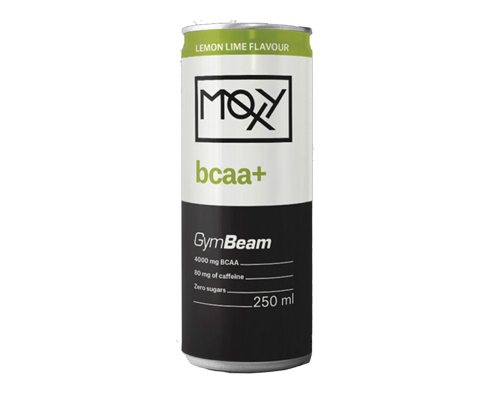 GymBeam Moxy BCAA+ Energy Drink 250 ml citron limetka