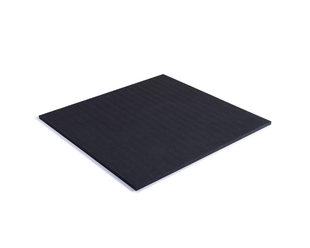 TRINFIT Gumová podložka pod činky 100 x100 x 2cm černá