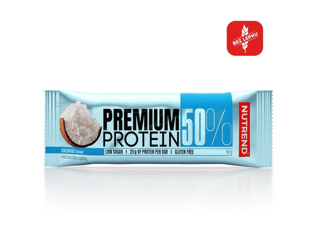 NUTREND Premium Protein 50% Bar 50 g kokos