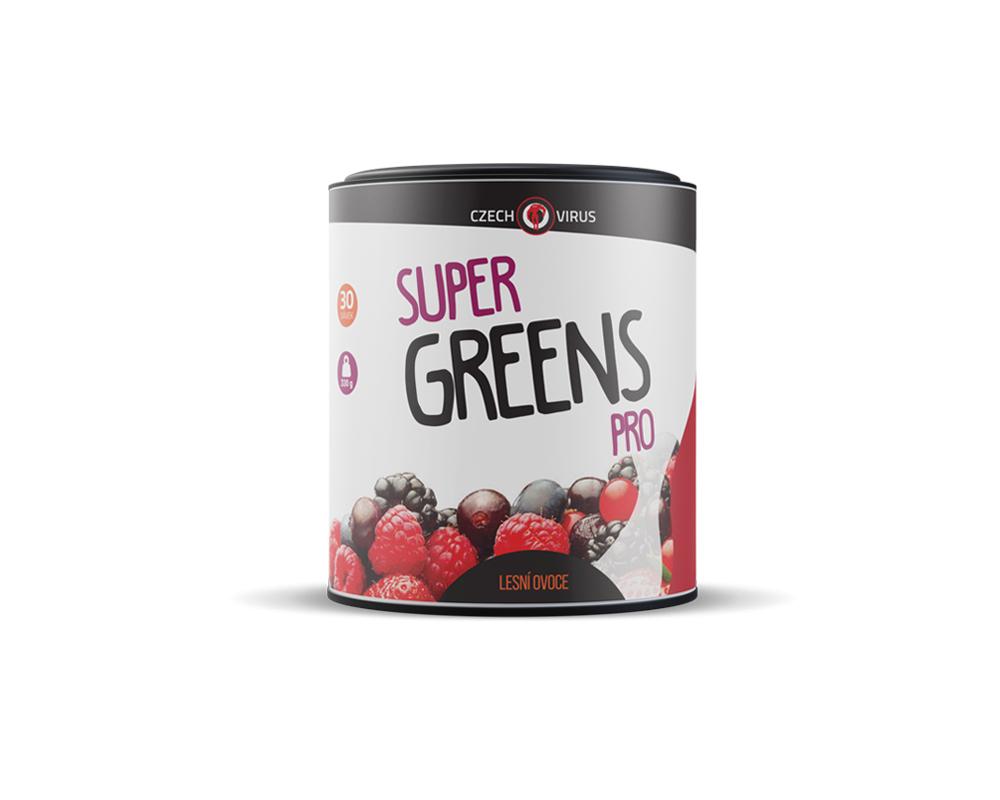 CZECH VIRUS Super Greens PRO 330 g lesní ovoce