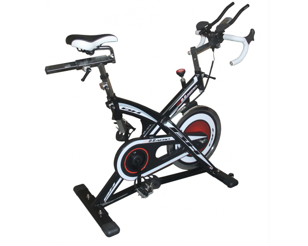 Cyklotrenažér BH Fitness SB2,8 Aero z profilu