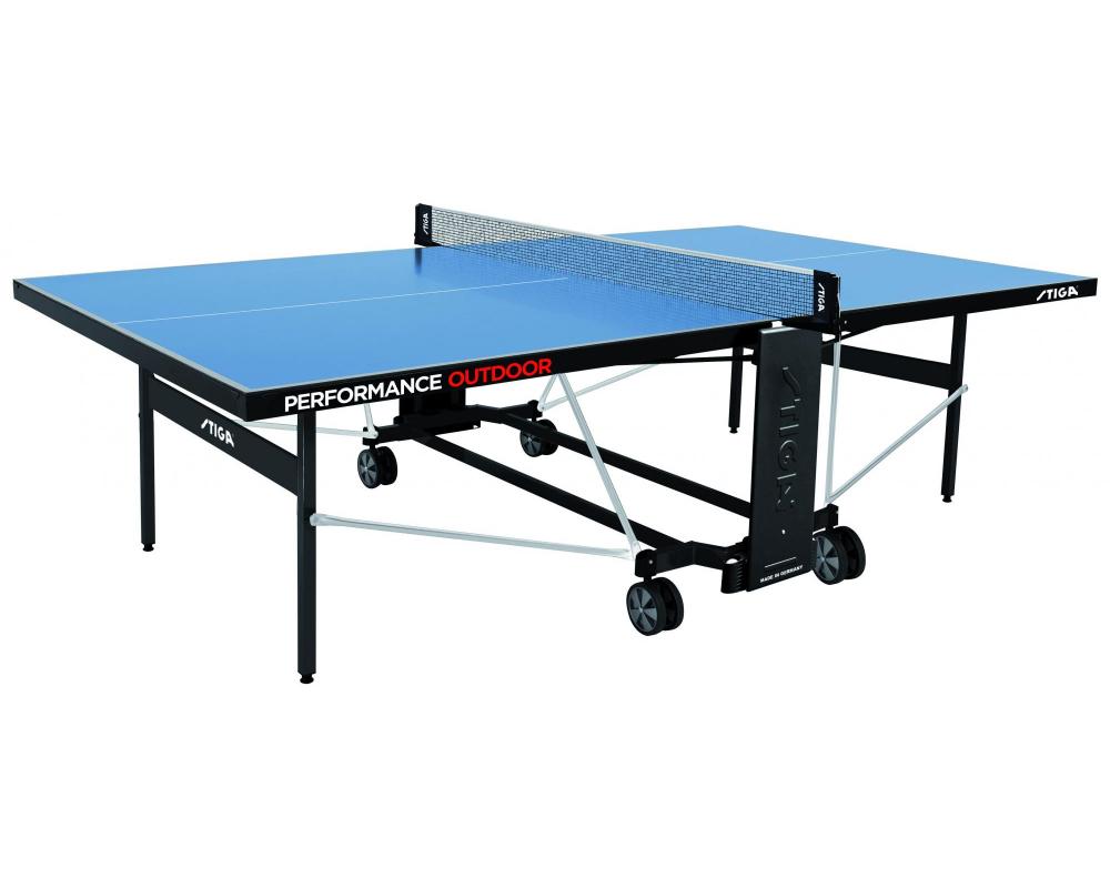 Stůl na stolní tenis venkovní STIGA Performance Outdoor z profilu
