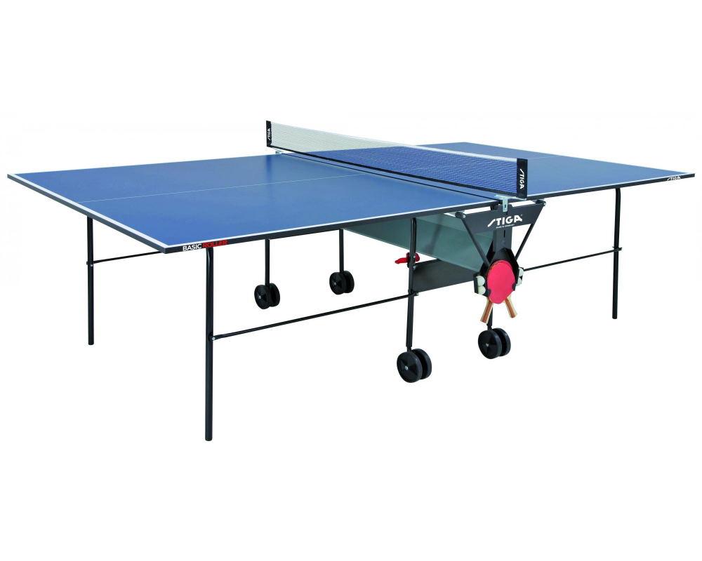 Stůl na stolní tenis Stiga Basic Roller z profilu