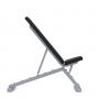 Posilovací lavice na jednoručky Posilovací lavice polohovací PROFI šedá bok naklopenág