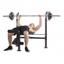 Posilovací lavice na bench press TUNTURI WB60 Olympic Width Weight Bench cvik 2g