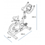 Cyklotrenažér Proform TDF 1.0 rozměry trenažeru