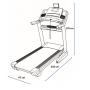 Běžecký pás NORDICTRACK Commercial 1750 rozměry trenažéru