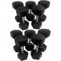 Sada jednoručních činek TUNTURI Hexa 12-20 kg (5 párů) stojící