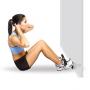 Posilovací stroj na břicho Opěrka nohou pod dveře na cvičení břicha TUNTURI žena