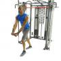 Posilovací lavice s kladkou FINNLO MAXIMUM SCS Smith Cage System cvik rozpažování