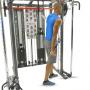 Posilovací lavice s kladkou FINNLO MAXIMUM SCS Smith Cage System cvik triceps