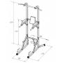 Posilovací lavice na břicho TRINFIT POWER TOWER
