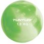 Jóga míč tónovaný 1,5 kg TUNTURI Toning ball zelený