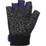 Dámské fitness rukavice POWER SYSTEM Classy modré zezadu