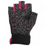 Dámské fitness rukavice POWER SYSTEM Classy růžové zezadu