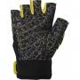 Dámské fitness rukavice POWER SYSTEM Classy žluté zezadu