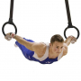 Gymnastické kruhy plastové s popruhy TX05 HMS workout