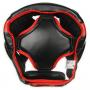 Boxerská helma DBX BUSHIDO červeno-černá zeshora