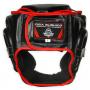 Boxerská helma DBX BUSHIDO červeno-černá zezadu