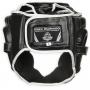 Boxerská helma DBX BUSHIDO černo-bílá zezadu