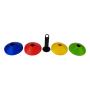 Plastové tréninkové kužely se stojanem TUNTURI - 40 ks barvy