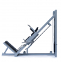 Legpress hacken a dřep kombinovaný na cihly bok