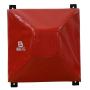 Boxovací blok posuvný - jehlan PVC BAIL červený zepředu