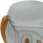 Boxerské rukavice kůže Royal BAIL bílé detail