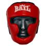 Boxerská přilba - kůže SPARRING - FIGHT BAIL červená zepředu