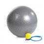Gymnastický masážní míč HMS YB03 tmavě šedý