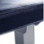 Posilovací lavice na jednoručky FITHAM Posilovací lavice rovná PROFI šedá koženka