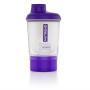 NUTREND Shaker 300 ml + zásobník fialovo průhledný
