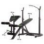 Posilovací lavice na bench press TUNTURI WB50 Mid Width Weight Bench nosnosti