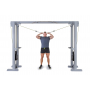 Kladkový stroj Protisměrná kladka s úzkou a širokou hrazdou FITHAM cvik na bicepsy